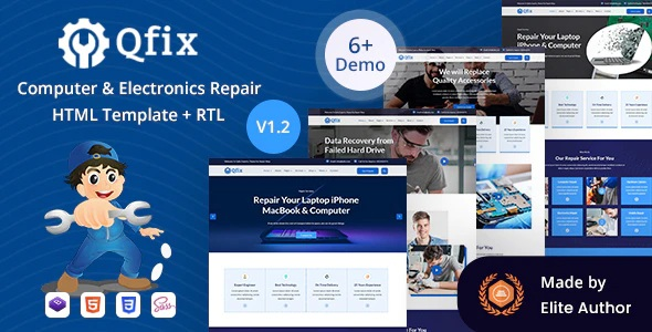 Computer & Electronics Repair HTML Template