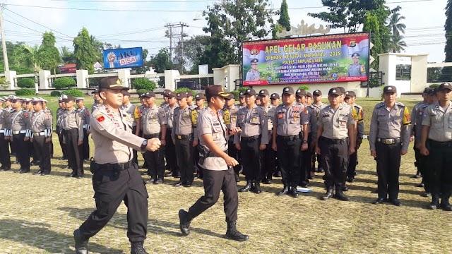 Apel Gelar Pasukan Ops Ketupat Krakatau 2019, Polres Lampung Utara Dirikan 4 Pos Pam dan 1 Pos Yan