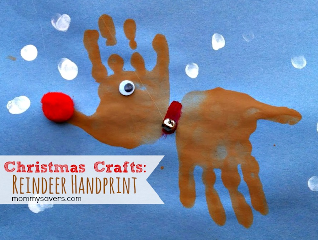 reindeer handprint christmas craft