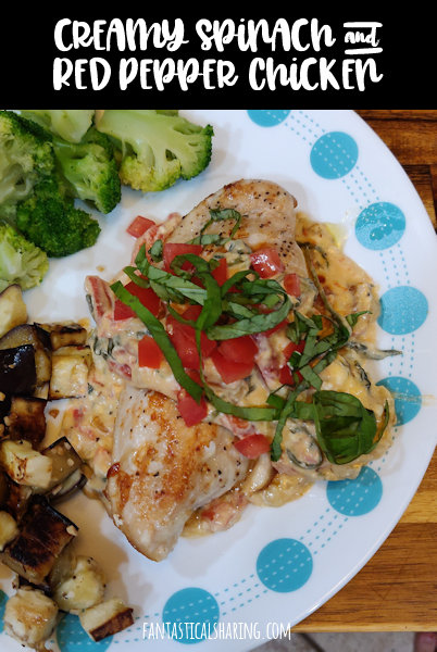 Fantastical Sharing Of Recipes Creamy Spinach Red Pepper Chicken
