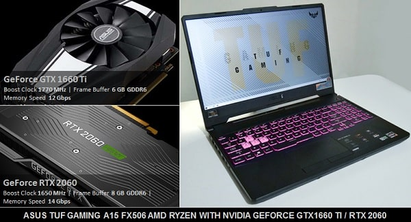 asus tuf gaming nvidia geforce grtx1660 ti