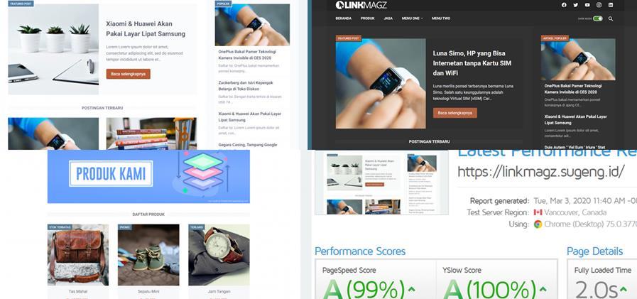 Gambar tampilan template LinkMagz yang keren dan elegan