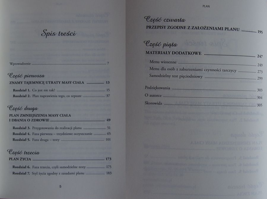 "spis tresci ""Plan"" Lyn-Genet Recitas - recenzja książki"