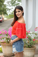Rhea Chakraborty in Red Crop Top and Denim Shorts Spicy Pics ~  Exclusive 172.JPG