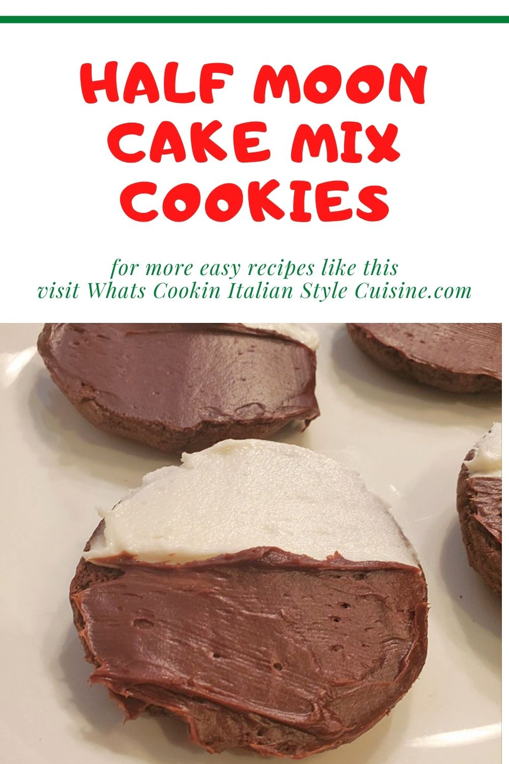 this is a pin for later on how to make cake mix half moon cookies