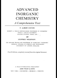 Advanced Inorganic Chemistry A Comprehensive Text 4th Edition by Cotton & Wilkinson