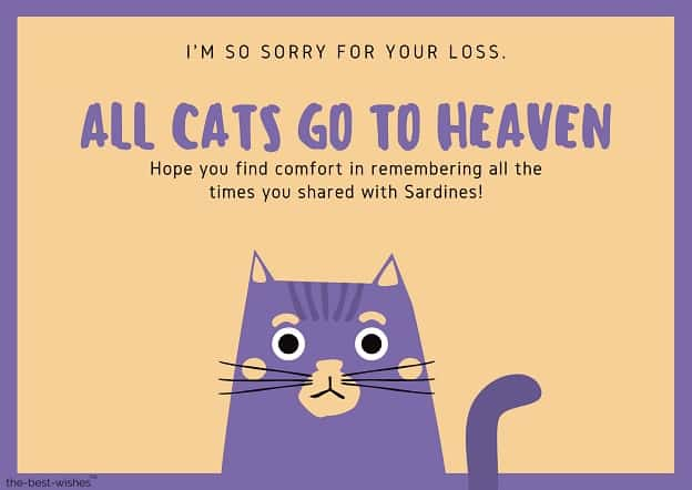 condolences messages for loss of cat