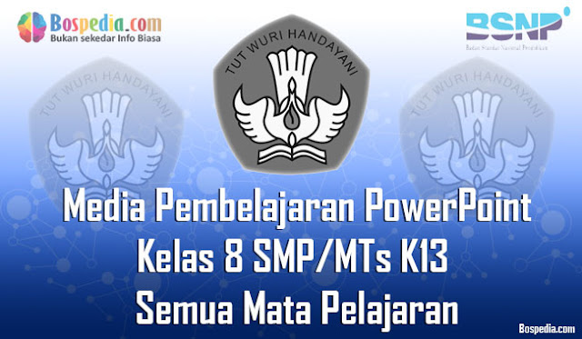 Media Pembelajaran dengan PowerPoint Kelas 8 SMP/MTs K13 Semua Mata Pelajaran