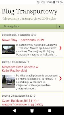 Blog Transportowy - wersja na komórki