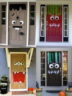 halloween monster door diy