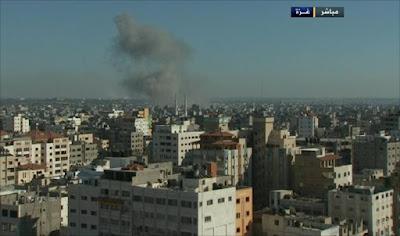 غاره اسرائيليه تستهدف موقع تدريب كتائب القسام فجر اليوم
