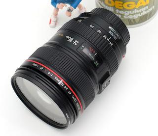 Lensa Canon 24-105 L bekas