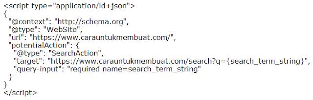 JSON-LD Markup Sitelink Searchbox