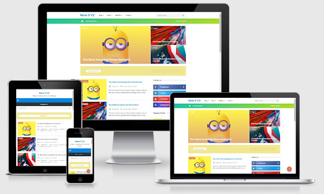 New Simplify 2 Responsive Blogger Template