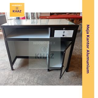 Meja Kantor / Meja Kelas / Meja Guru / Meja Kerja Aluminium Bahan Full Aluminium