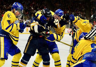 hockey fight minnesota championship