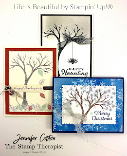Three cards using Stampin' Up!'s Life is Beautiful stamp set.  #StampinUp #StampTherapist