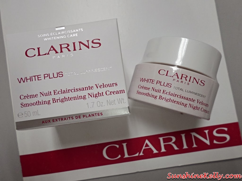 Clarins white plus total luminescent, review clarins Smoothing Brightening Night Cream, clarins, beauty, skincare