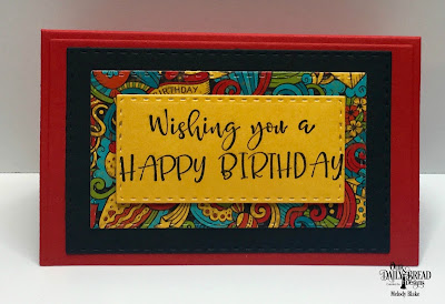 Our Daily Bread Designs Stamp Set: Celebrating You, Custom Dies:  Gift Card Holder, Double Stitched Rectangles, Birthday Balloons, Paper Collection: Birthday Bash,Birthday Brights