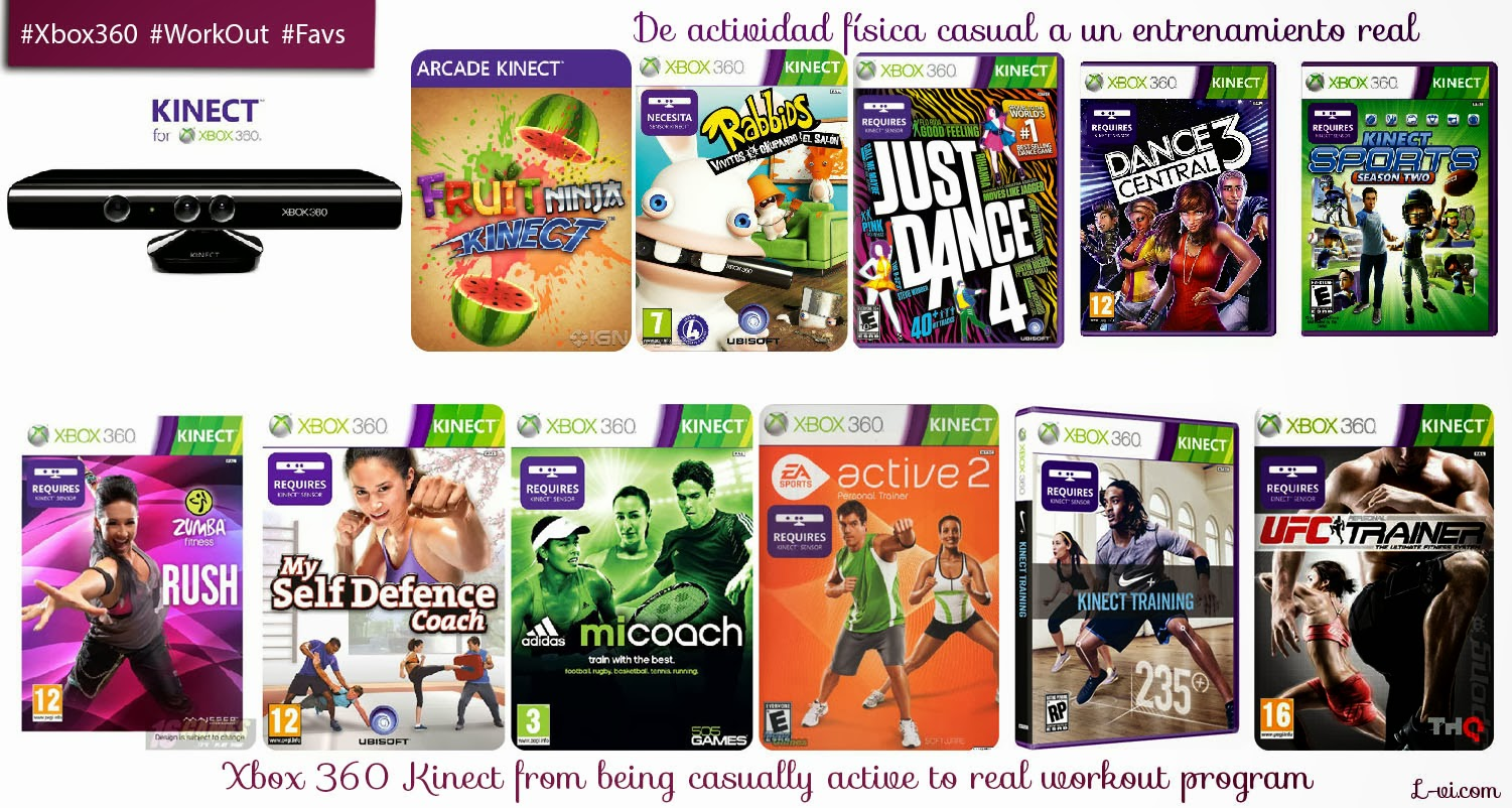 Xbox 360 Kinect: from being casually active to real workout programs.  L-vi.com