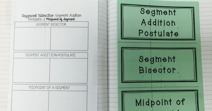 Segments Foldable & Activity | Mrs  Newell's Math