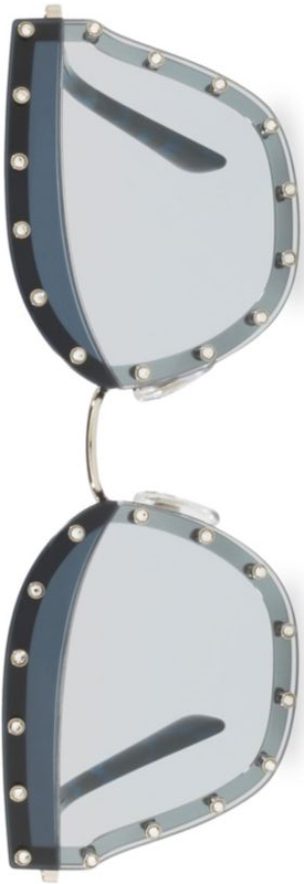 Valentino Garavani Crystal Trim 59MM Cat Eye Sunglasses