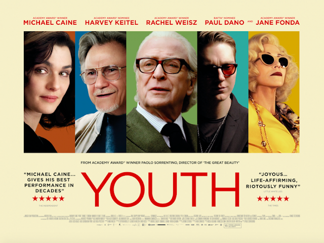 Youth, Movie Poster, 2015, Directed by Paolo Sorrentino, Cannes 2015, starring Michael Caine, Harvey Kietel, Rachel Weisz, Paul Dano