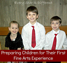 Preparing Children for their first fine arts experience