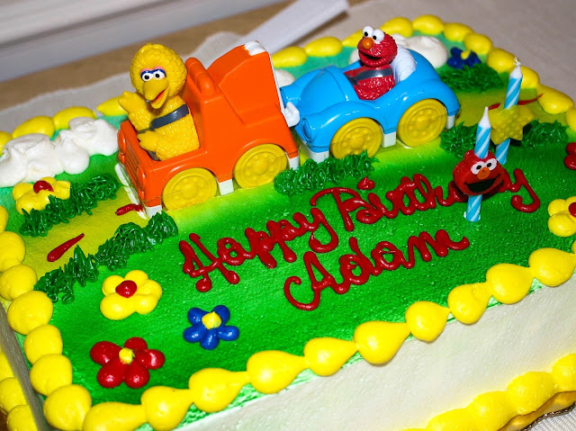 Elmo Birthday Party - Sesame Street Tow Truck Sheet Cake from Publix