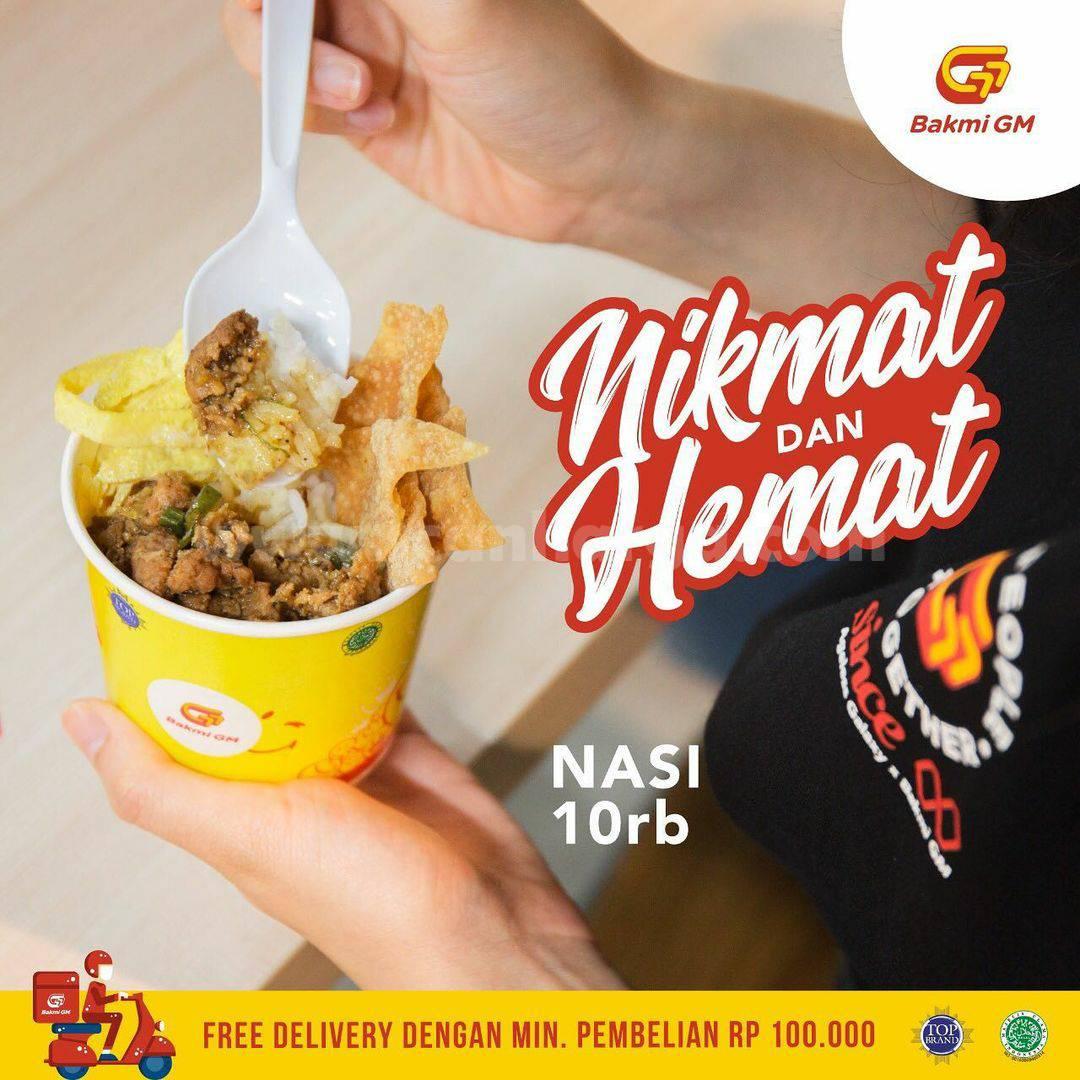 Bakmi GM Promo Paket Nikmat Hemat Nasi 10rb