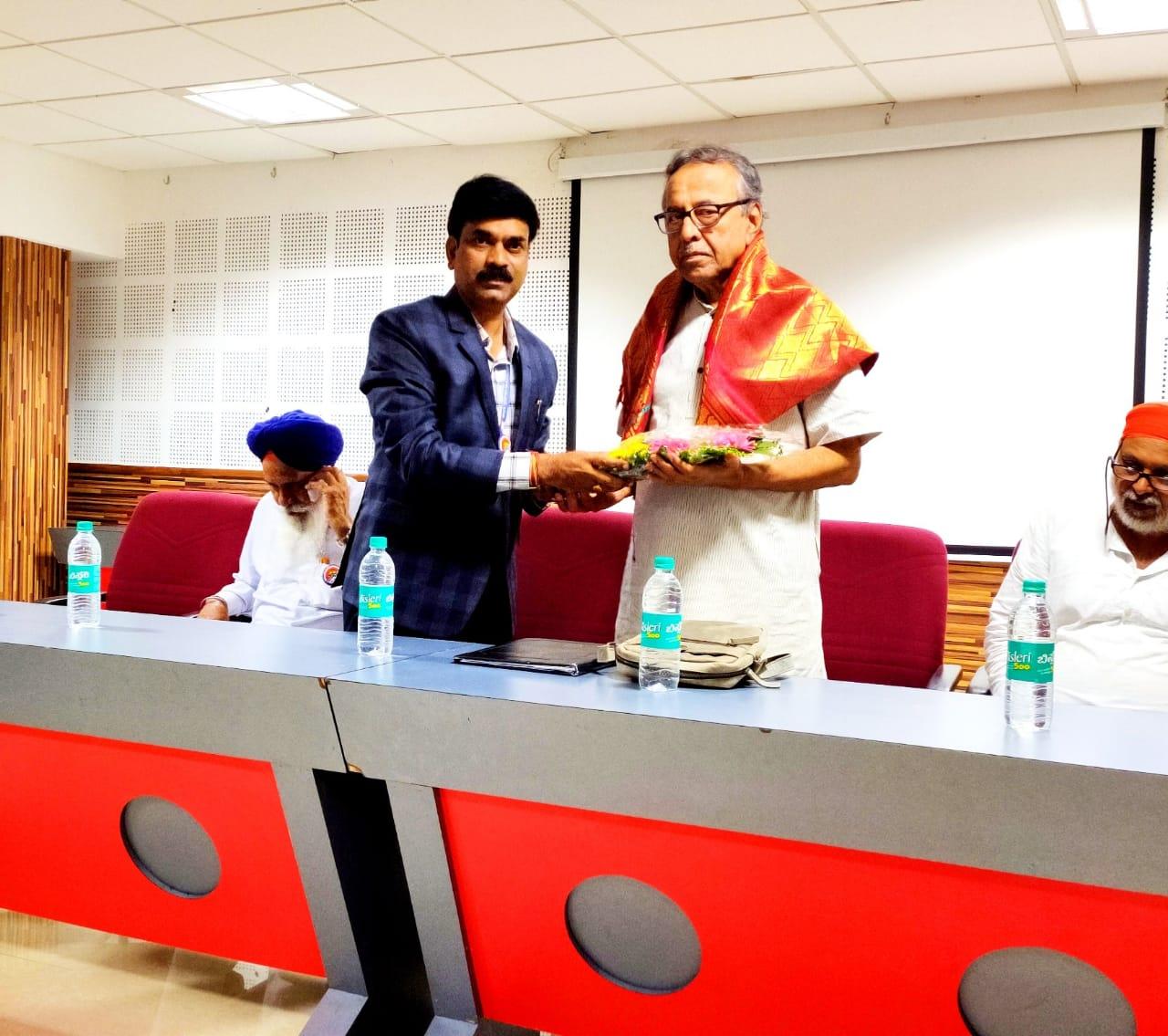 Guest lecturer on personality development by Mr. Aravind Jatti President, Antharastriya Basava Samithi organised by ECE department
