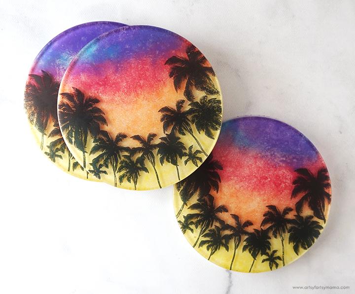 Resin Sunset Coasters