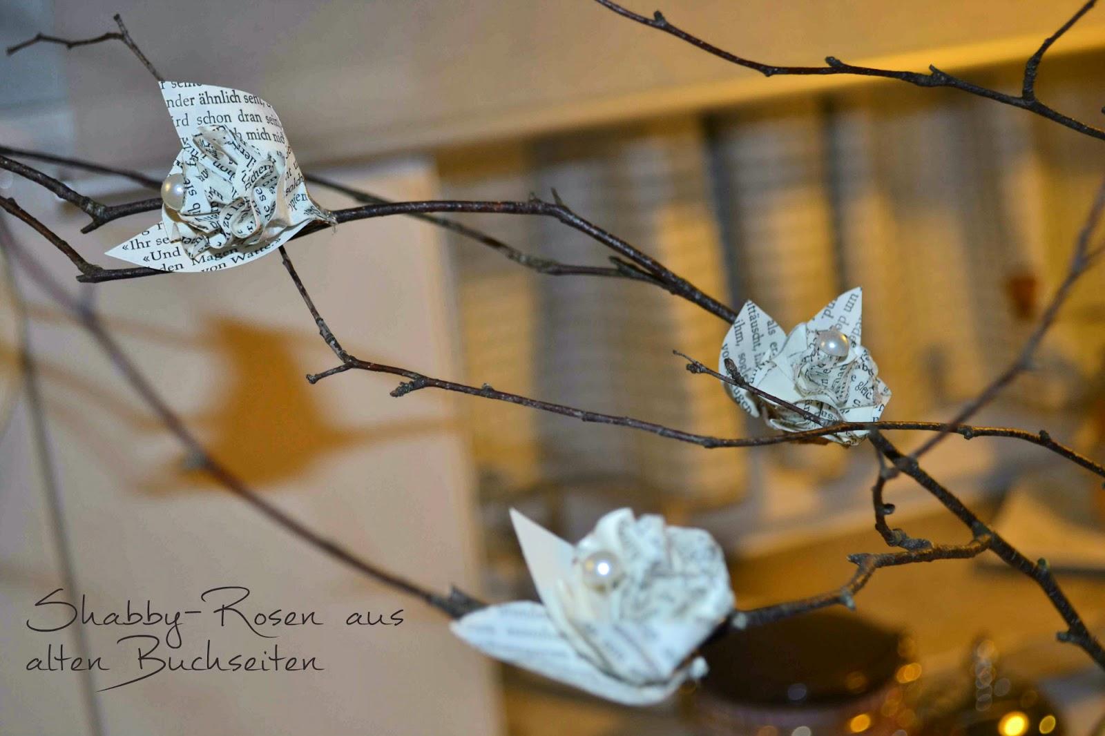 petra 39 s nest diy rosen aus alten b chern. Black Bedroom Furniture Sets. Home Design Ideas