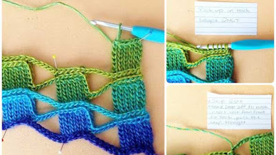 Punto mosaico o azulejos a crochet ideal para esclavinas
