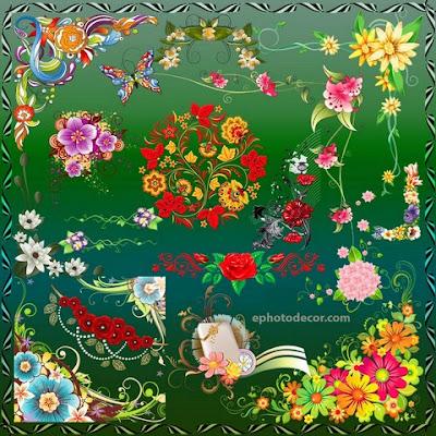 Floral decor corner Design 2020 png