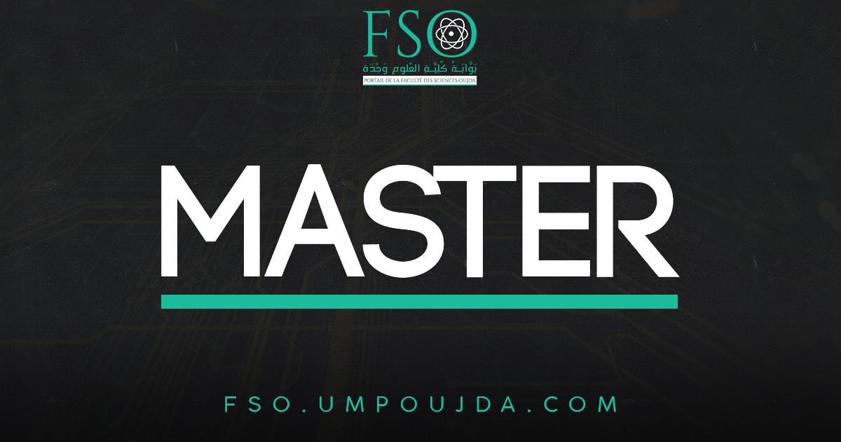 Master : Environnement & Développement Durable (EDD) 2018/2019