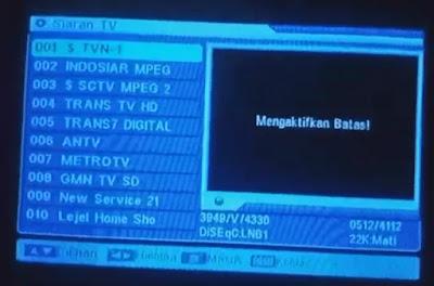 Cara memasukan Kode Biss key tv one