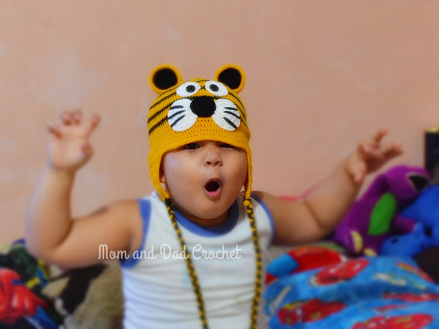 crochet, tiger hat, hat