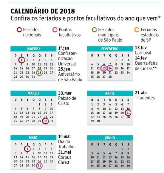Calendario 2018 Oab