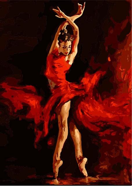 obraz olejny tancerka