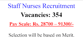 354 GNM BSc Staff Nurse job opportunities