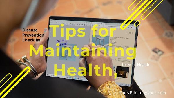 Disease Prevention Checklist