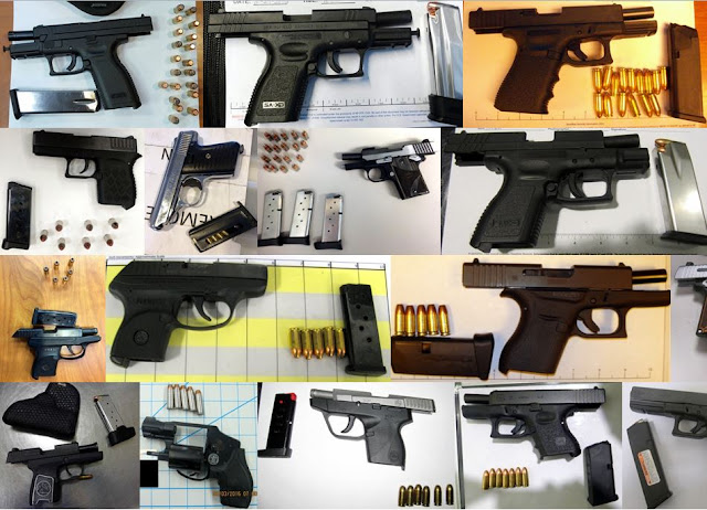 Discovered 56 firearms