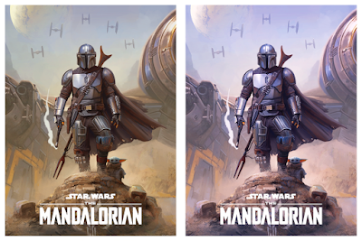 "The Mandalorian ""New Chapter"" Giclee Print by Pablo Olivera x Bottleneck Gallery"