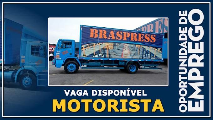 Transportadora Braspress abre vagas para Motorista