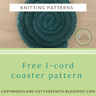 Picture of free i-cord coaster knitting pattern