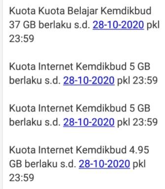 Cara Cek Kuota Belajar Kemendikbud Untuk Nomor Telkomsel Tri Indosat Dan Xl Info Pendidikan Terbaru