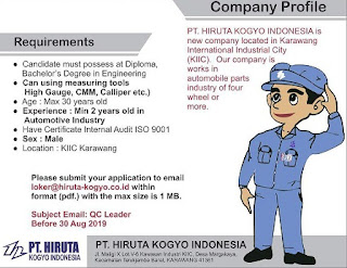 pt HIRUTA KOGYO INDONESIA