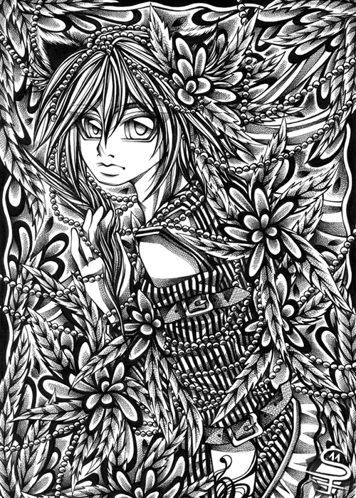 22-Organic-Sandra-Filipova-DarkSena-Manga-Black-and-White-and-Colour-Detailed-Drawings-www-designstack-co