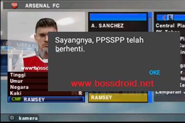 Cara Mengatasi FC (Force Close) PES Jogress PPSSPP